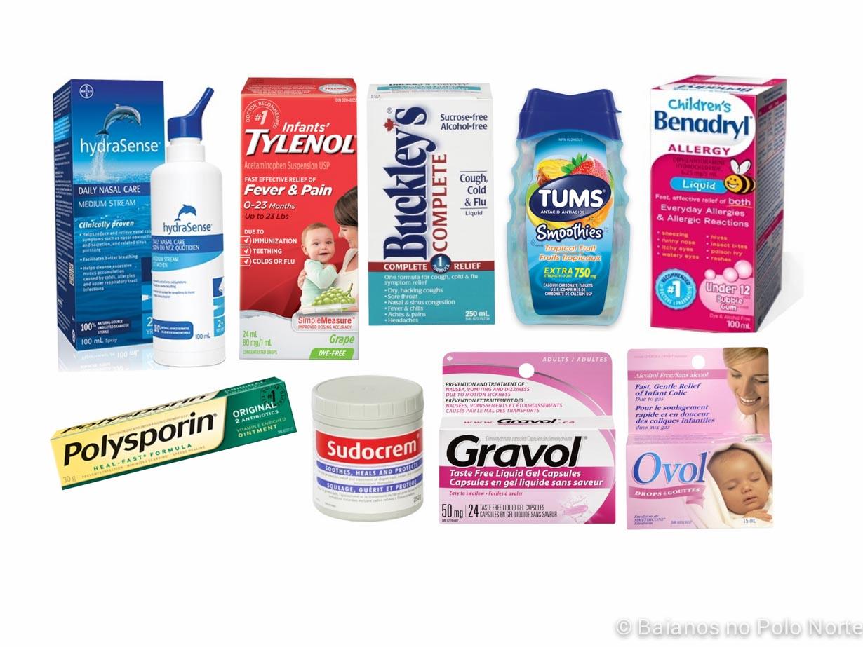 Nomes de remédios comuns no Canadá, que são vendidos sem receita - Baianos no Polo Norte